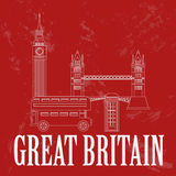 United Kingdom of Great Britain landmarks Royalty Free Stock Photos
