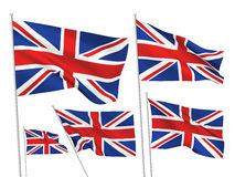 United Kingdom Great Britain vector flags Stock Images