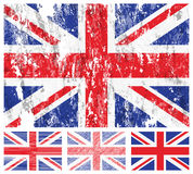United kingdom grunge flag set Stock Photos