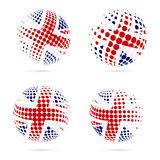 United Kingdom halftone flag set patriotic vector. Stock Photo