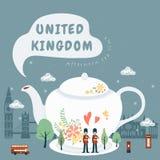 United Kingdom impression - afternoon tea Stock Images