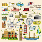 United Kingdom impression collection. Lovely United Kingdom impression collection in flat style Stock Photography