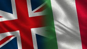 United Kingdom and Italy stock image
