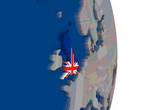 United Kingdom with its flag Royalty Free Stock Image