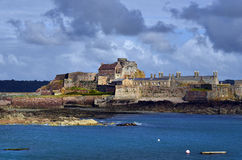 United Kingdom-Jersey. Elizabeth castle in Jersey, United Kingdom Royalty Free Stock Photography
