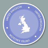 United Kingdom label flat sticker design. Stock Image