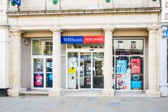 UNITED KINGDOM, LANCASTER - 9TH APRIL 2020 W H Smiths one of the UK`s leading retail groups