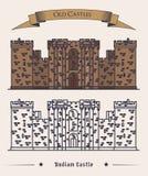 United Kingdom landmark. Bodiam castle Stock Photography