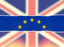 United Kingdom leaves European Union Brexit concept Royalty Free Stock Images