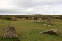 United Kingdom. Madron England, UK - August 16, 2015: The famous Mên-an-Tol a Megalithic stone and Tomb near Madron, West Penwith, Cornwall, England, United royalty free stock image