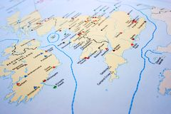 United Kingdom map Royalty Free Stock Image