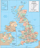 United Kingdom map Stock Photography