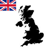 United kingdom map. On a background royalty free illustration