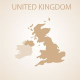 United Kingdom map brown Royalty Free Stock Photography