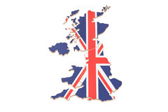 United Kingdom map closeup, 3D rendering. Great Britain map closeup, 3D rendering isolated on white background stock illustration