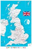 United Kingdom Map and Flat Map Pointers. Vector illustration vector illustration
