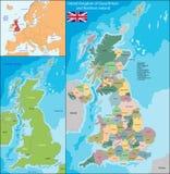 United Kingdom map Stock Photo