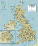 United Kingdom map with selectable territories. Vector Stock Photo