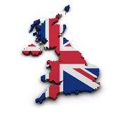 United Kingdom Map Shape Royalty Free Stock Photos