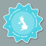United Kingdom map sticker in trendy colors. Royalty Free Stock Images