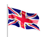 United Kingdom national flag with a star circle of EU Royalty Free Stock Photography