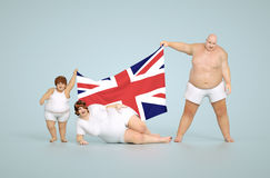 United kingdom obesity concept Royalty Free Stock Images