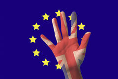 The United Kingdom out of membership from the European Union Stock Photos