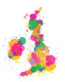 United Kingdom Paint splattered Royalty Free Stock Images