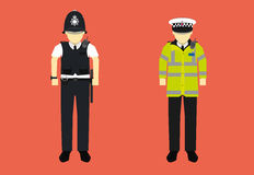 United Kingdom police officer character Stock Photo