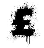 United Kingdom Pound splatter design element Stock Photo