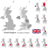United Kingdom and regions of England Stock Photography