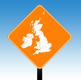 United Kingdom Road sign Stock Photography