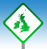 United Kingdom road sign Royalty Free Stock Image