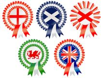 United Kingdom Rosettes Royalty Free Stock Photography