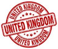 United Kingdom stamp. United Kingdom round grunge stamp isolated on white background. United Kingdom stock illustration