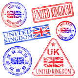 United Kingdom Rubber Stamps Royalty Free Stock Image