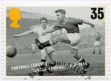 UNITED KINGDOM - 1996: shows Duncan Edwards 1936-1958, series football legends Royalty Free Stock Photography