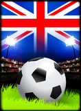 United Kingdom Soccer Match in Stadium Royalty Free Stock Image