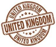 United Kingdom stamp. United Kingdom round grunge stamp isolated on white background. United Kingdom royalty free illustration