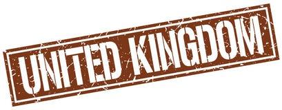 United Kingdom stamp. United Kingdom square grunge sign isolated on white. United Kingdom royalty free illustration