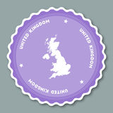 United Kingdom sticker flat design. Royalty Free Stock Image
