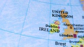 United Kingdom. Terrestrial Globe 4K stock video