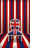 British flag luxury chair Stock Photos