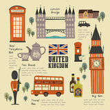 United Kingdom travel concept collection Royalty Free Stock Photography
