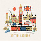 United Kingdom travel concept Stock Images