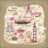 United Kingdom travel concept illustration Royalty Free Stock Images