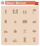 United Kingdom travel icon set Stock Image