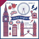 United Kingdom travel impression collection Royalty Free Stock Images