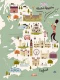 United Kingdom travel map Royalty Free Stock Image
