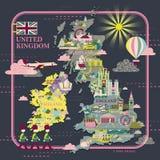 United Kingdom travel map Stock Image